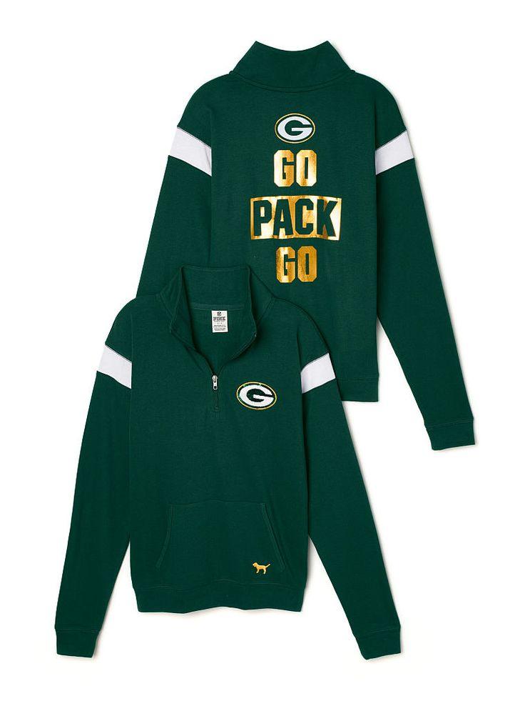 Green Bay Packers Bling Boyfriend Half-Zip - PINK - Victoria's Secret