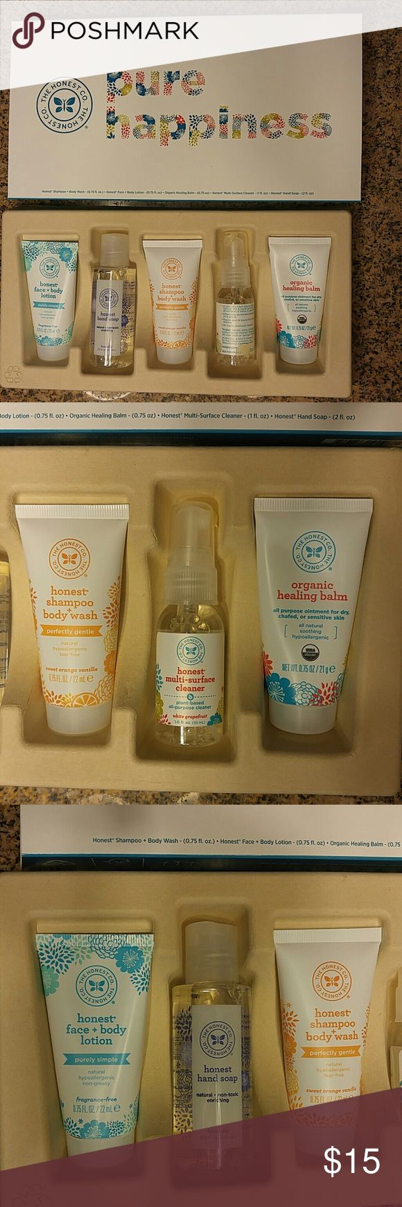 The Honest Co. ALL NATURAL Brand new in box The Honest Co. Travel size body care kit. Great for children! The Honest Company Makeup