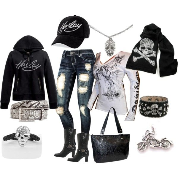 """""""Harley Davidson by DHT"""" by tristiking on Polyvore"""