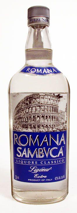 Romana Sambuca + ice= kmm happy