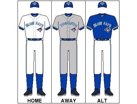 Toronto Blue Jays uniform set