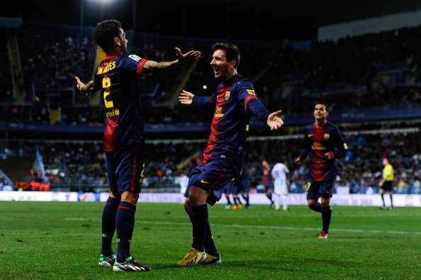 Daniel Alves & Lionel Messi