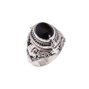 Elixir Poison Ring - Black Onyx | Sterling Silver | www.nakedfaun.com