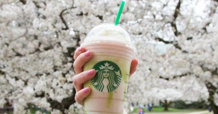 The New Cherry Blossom Starbucks Frappuccino Is Everything You Love About Spring via @PureWow