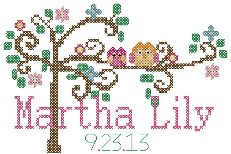 Popular items for cross stitch tree on Etsy