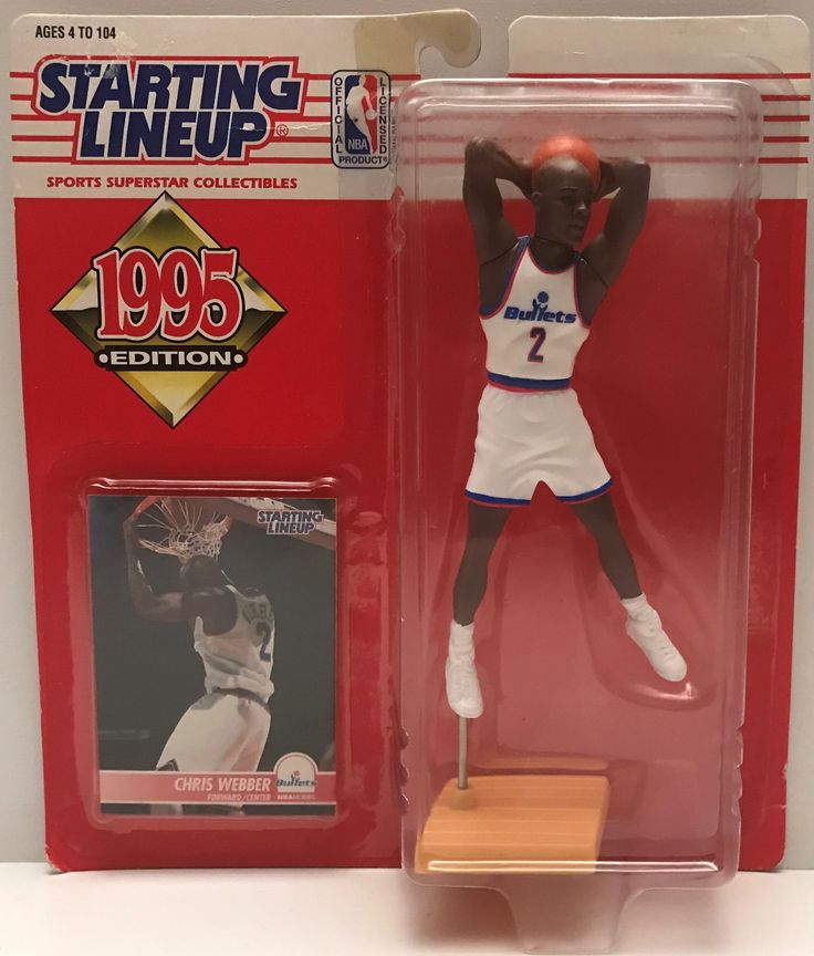 This just in at The Angry Spider Vintage Toy Store: TAS037840 - 1995 ...  Check it out here! http://theangryspider.com/products/tas037840-1995-kenner-starting-lineup-nba-washington-bullets-chris-webber?utm_campaign=social_autopilot&utm_source=pin&utm_medium=pin