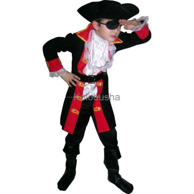 пиратские костюмы  | Костюм пирата Капитан Хук детский ...