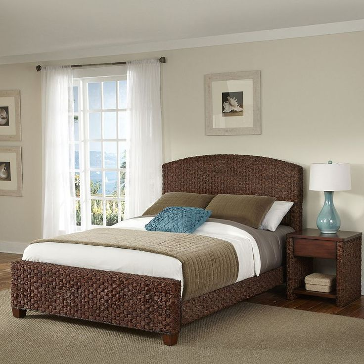 Home Styles 3-piece Cabana Banana II Bed and Nightstand Set, Brown Oth