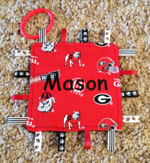 Georgia Bulldog Baby Crinkle Toy by ThePersonalDesign on Etsy, $10.00