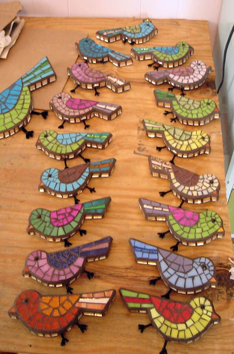 Mosaic birds by Amy Fancher                                                                                                                                                     Más