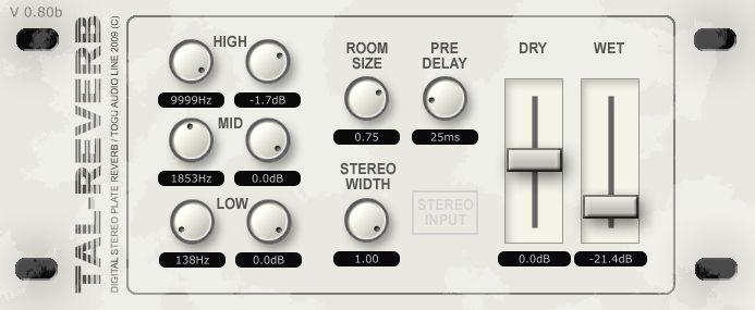 TAL Reverb-II - FREE VST for PC & MAC.