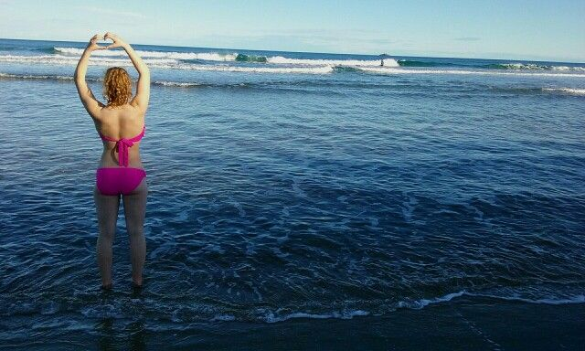 My beautiful friend Shania at St Kilda beach