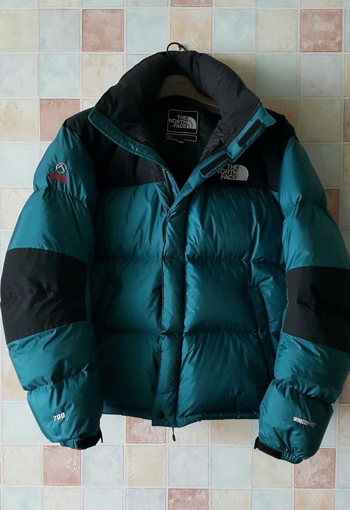 dc63be033 North Face Summit Goose Down Jacket Wind Stopper Dry Loft Blue Men's ...