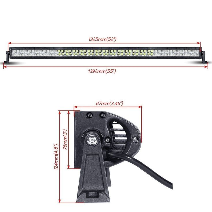 52 inch 300W CREE Spot amp Flood Straight LED   Auxbeam