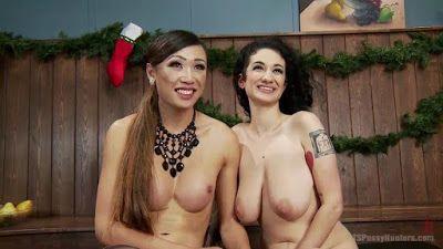 VMXXXTube: Arabelle Raphael & Venus Lux - A very Anal Xmas (T...