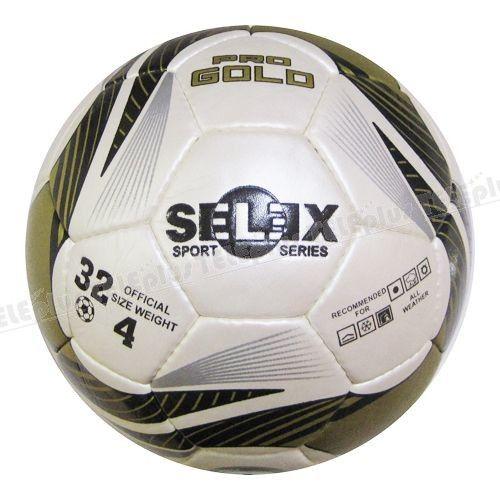 Selex Pro Gold Dikişli 4 No Futbol Topu - Topun boyutu: 4 No (8-12 yaş arası)  Yüzeyi: Poliüretan deri, lateks iç lastik  Ağırlığı: 409 gr  Kullanım alanları: Her türlü zeminde kullanıma uygun  Federasyon onayı: Yok  Diğer özellikleri: Makine dikişli, 32 parça, beyaz-siyah-altın renkte futbol topu  Satın alacağınız topların sibobunuvazelinile kayganlaştırarak ve mutlakatop iğnesikullanarak şişiriniz.Topu kullanmadan şişik vaziyette 24 saat bekletiniz. - Price : TL59.00. Buy now at…
