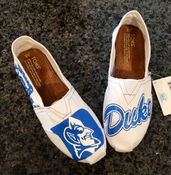 Custom Made-to-order TOMS Shoes: Any Univ/Team ( Duke Blue Devils inspired )
