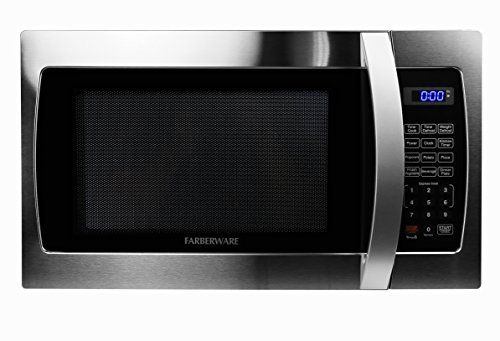 Farberware Professional FMO13AHTBKE 1.3 Cubic Foot 1000-Watt Microwave Oven, Stainless Steel - The Farberware Professional Microwave delivers power, style and convenience with a sleek, stainless steel design to compliment your kitchen. Features include 10 power levels and a Memory Function that stores and recalls your preferred cooking settings. The Farberware Pro offers an easy to operate...