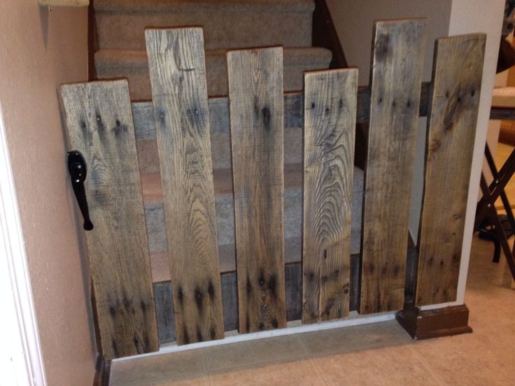 Baby Gate Made From A Pallet. Total Cost $15 $20 Depending On The Hinges