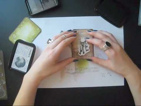 ATC cards ( tutorial requested) - YouTube watch as this artist creates lovely art from a little blank page, using inks and stamps, no layering or embellishments