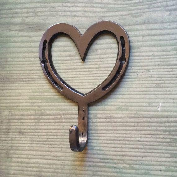 Heart Hook, Western Home Decor, Horseshoe Heart Engagement Gift Amazing Ideas