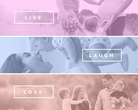 Colorful Modern Quote Family Photo Collage