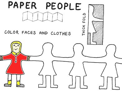 Best 25 paper doll chain ideas on pinterest vintage paper cutting paper doll chains pronofoot35fo Images