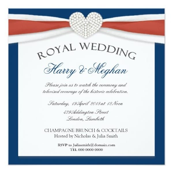 Harry Meghan Start Planning Your Royal Wedding Viewing Party Today Partyideapros Com Wedding Party Invites House Party Invitation Party Invitations Printable