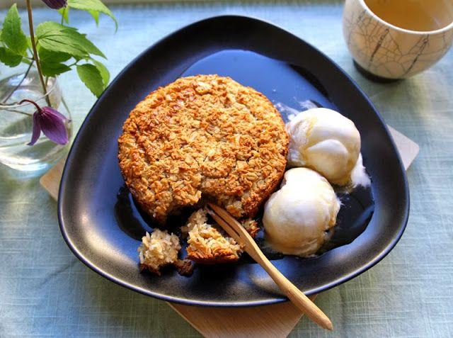 Oppskrift Enkel Rask Havrekake Kokos Vegansk Kake Uten Egg