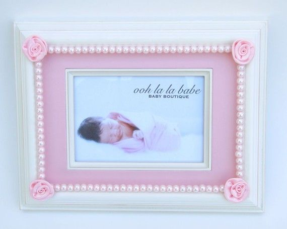 Love seeing not only my handmade Ooh La La Babe Pink Roses and Pearls Picture Frame but also my BEAUTIFUL baby girl. She's hands down the cutest baby model ever!!!