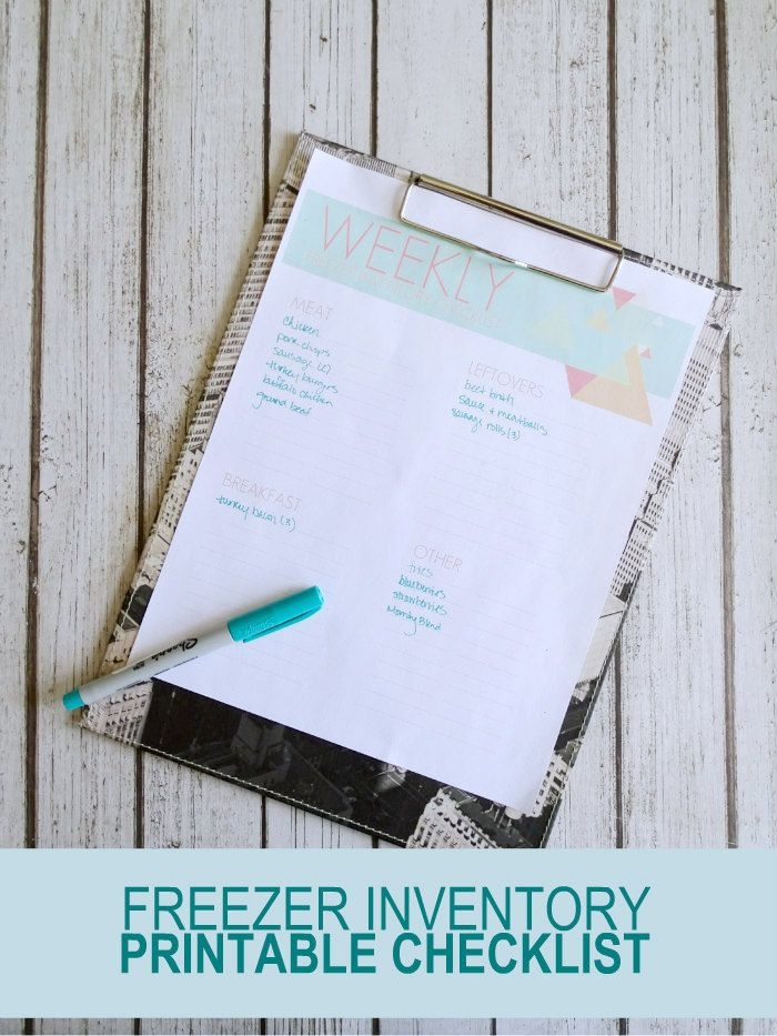 The 25+ best Freezer inventory printable ideas on Pinterest Meal - free inventory templates
