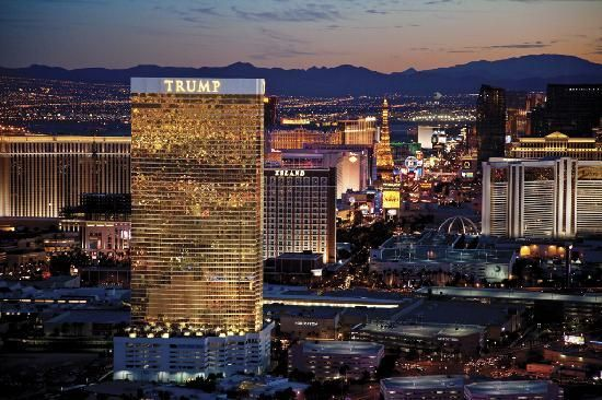 Ah, the land of my birth. ;-) The view has changed a little since my time.... but it's still glamorous. I'd love to stay at the Trump tower.