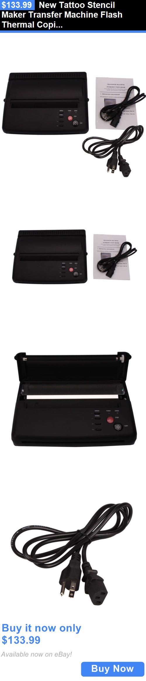 Tattoo Supplies: New Tattoo Stencil Maker Transfer Machine Flash Thermal Copier Printer Supplies BUY IT NOW ONLY: $133.99