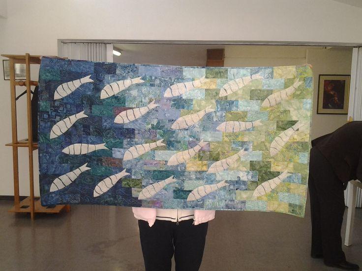 patchwork dilatazione pesci e free motion @pinabaucia