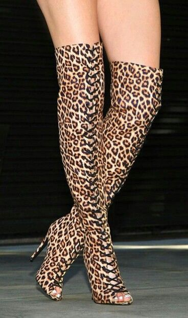 Cheetah print thigh high boots | Heel Hevan!!! | Pinterest | High ...