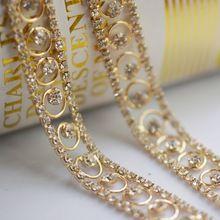 1 ярд старинные игристое цепь цепь горный хрусталь чашки для свадебного платья DIY аксессуары(China (Mainland))