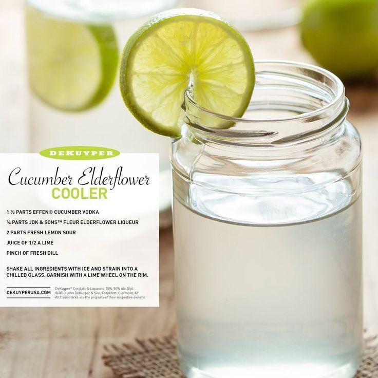 Cucumber Elderflower Cooler: 1 1/2 Parts EFFEN® Cucumber