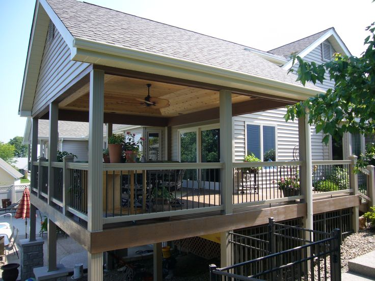 Best 25+ Covered deck designs ideas on Pinterest | Patio deck ...