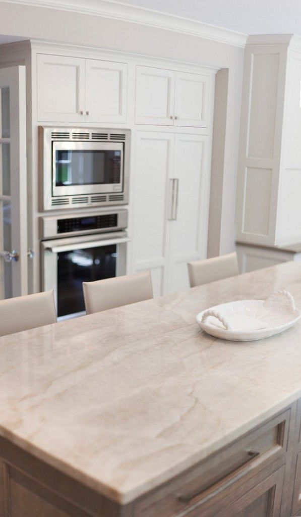 Taj Mahal Quartzite. Quartzite Kitchen Countertop. Kitchen with quartz countertop. taj mahal quartzite #Quartzite #QuartziteCountertop #QuartzKitchenCountertop #QuartziteIdeas John Johnstone.
