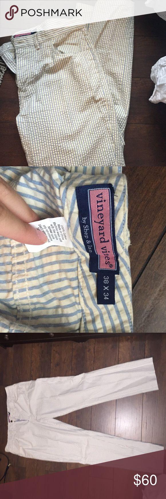 """Vineyard Vines Men's Seersucker Pants Vineyard Vines Men's Seersucker Pants- NWOT- these are the """"five pocket pant"""" 38 X 34 Vineyard Vines Pants Dress"""