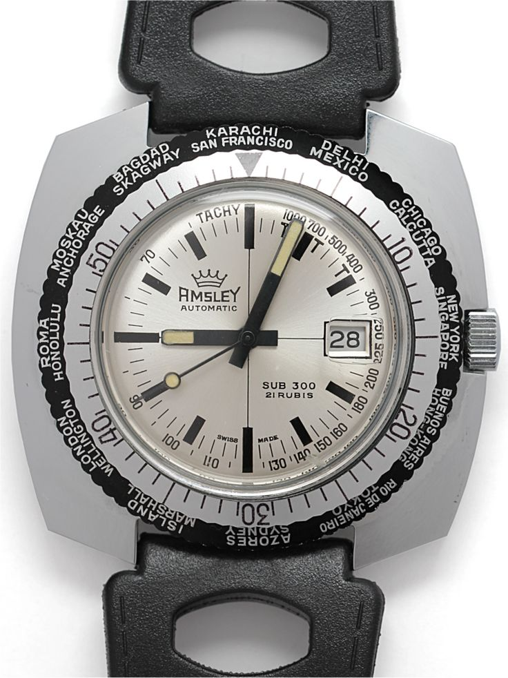 1960's Amsley Sub 300 Automatic Diver #vintage #watch