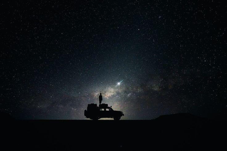 noche, estrellas, cielo, constelaciones, galaxias, silueta, 1708220800