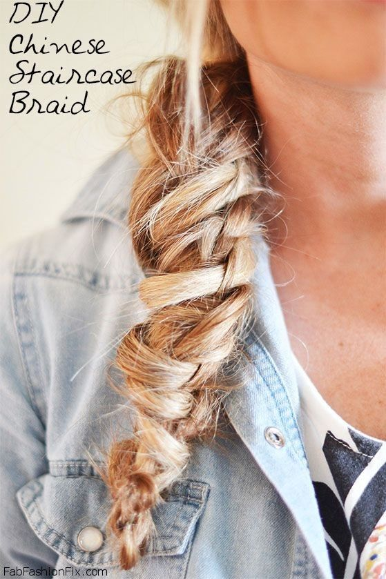 Chinese Staircase Braid Hairstyle