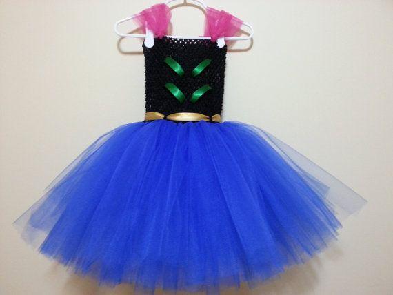 Frozen Anna tutu dress by MissGiGisBowtique on Etsy, $30.00