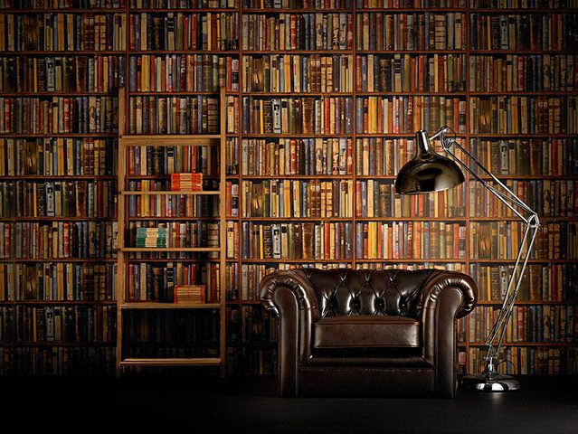 Faking It Interiors Library Wallpaper Ref L04a Multi From Andrewmartin