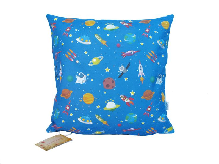 Space Rocket Solar System Cushion Cover by handmade by me for sale on http://hellopretty.co.za