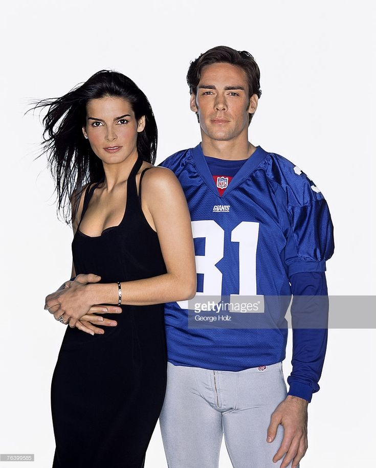 Actress Angie Harmon & football player Jason Sehorn are photographed for New York Magazine on January 15, 2001 in New York City. Though now divorced, Sehorn proposed in front of millions of viewers during Harmon's appearance on Jay Leno.