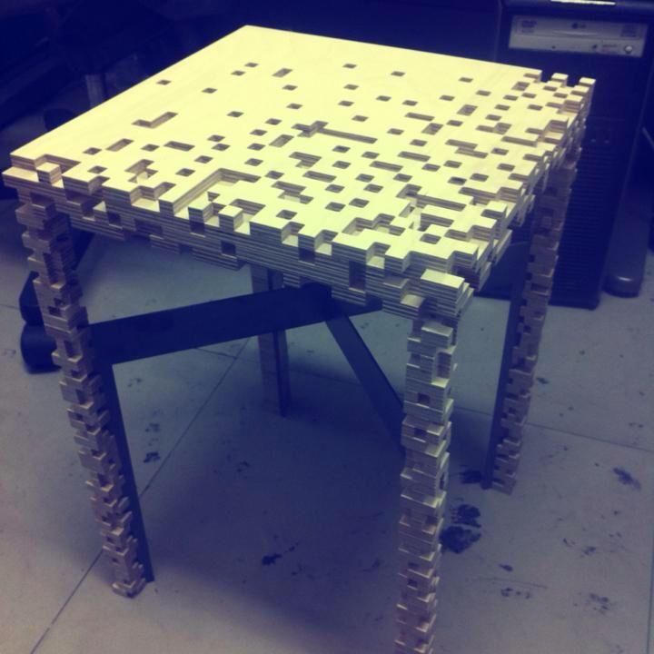 """Impressionism"" stool design"