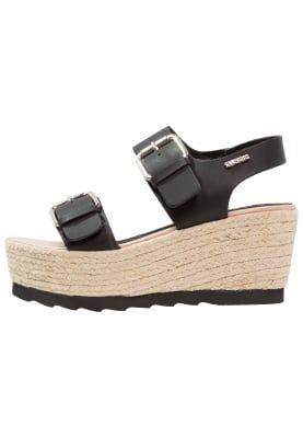 ARAGON - Sandaletter med kilklack - noir