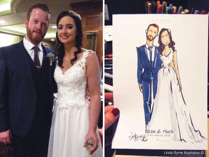 Linda Byrne Illustration, Live Wedding Illustration, Wedding Artist, Wedding illustrator Ireland, www.lindabyrneillustration.com